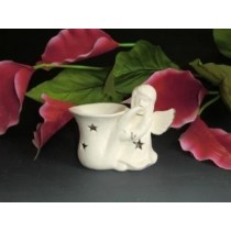 White Ceramic Star & Angel Shape Oil Burner