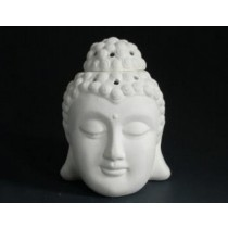 White Ceramic Thai Buddha Head Oil Burner