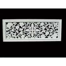 White Colored Rectangular Wall Decor
