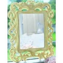 Mango Wood White Decorative Curved Photo Frame