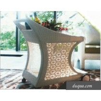 White Decorative Wicker Garden Rattan Bar Accessories