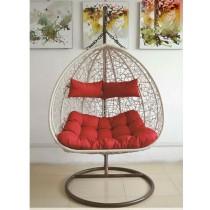 White Designer Lover Rattan Swing Chair