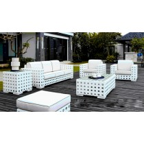 White Designer PE Rattan Sofa Set