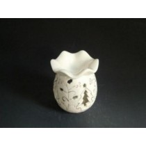 White Egg Shape Christmas Tree Ceramic Oil Burner