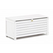 White Finish Wooden Storage Box