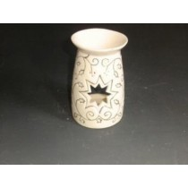 White Hand Curved Golden Craving With Star Oil Burner