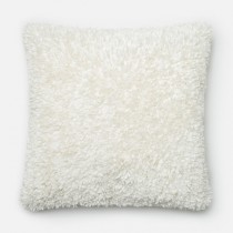 White Handmade Polyester Square Cushion