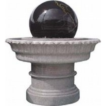 White Marble and Black Marble Garden Sculptures