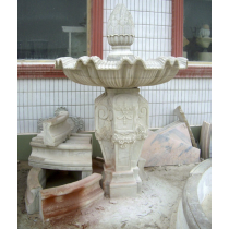 White Marble Decorative Curved Water Fountain
