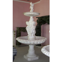 White Marble Hand Curved Children Water Fountain