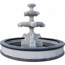 White Marble Horse Fountain