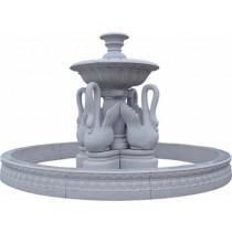 White Marble Swan Fountain
