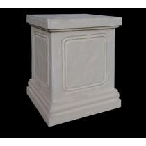 White Matte Sandstone Classic Style Pedestal