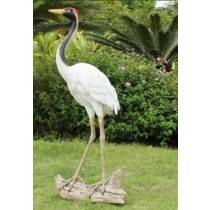 White Ostrich Garden Sculpture