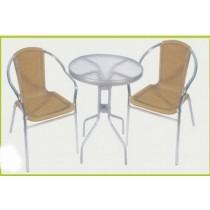 White Powder Coating Garden Rattan Furniture Set