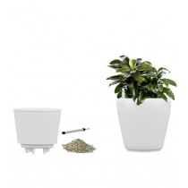 White Self Watering Polystone Planters