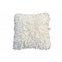 White Shaggy Cushion Cover