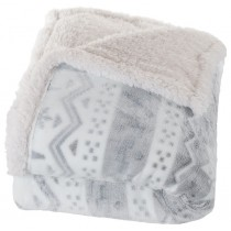 White Snowflakes Fleece Throw