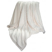 White Solid Soft Plush Sherpa Fleece Throw