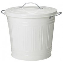 White Trash Can With Lid