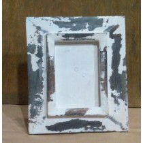Whitewashed Shabby Chic Wooden Photo Frame