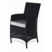 Wicker Black Outdoor Restaurant Arm Chair