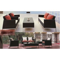 Wicker Black PE Rattan Modern Sofa Set