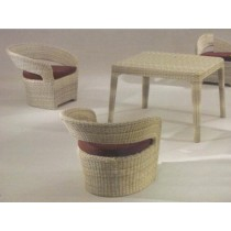 Wicker Brown Classic Garden Dinning Set(4 Chair + 1 Table)