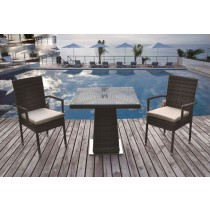 Wicker Brown Classic PE Rattan Dinning Set