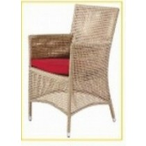 Wicker Brown Modern Style Restaurant Arm Chair