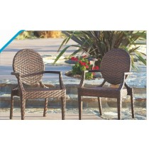 Wicker Brown Outdoor Restaurant Chair