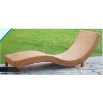 Wicker Brown Pool Side Carved Lounger
