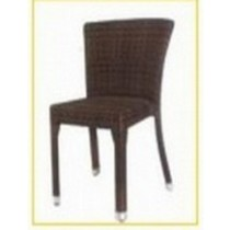 Wicker Brown Rattan Restaurant Chair Without Handle