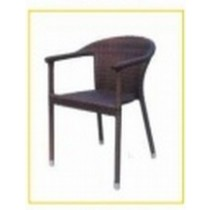 Wicker Coffee Classic Style Restaurant Rattan Chair
