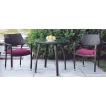 Wicker Coffee Classical Style Garden Rattan Dinning Set(2+1 Set)