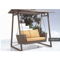 Wicker Coffee Garden Rattan Swing(Two Seater)