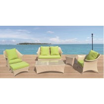 Wicker Cream PE Rattan Modern Sofa Set