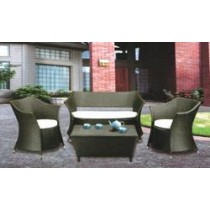 Wicker Dark Garden Rattan Outdoor Sofa Set(4+1 Set )