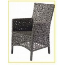 Wicker Gray Honey Comb Design Restaurant Chair