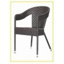 Wicker Gray Lining Design Restaurant Chair