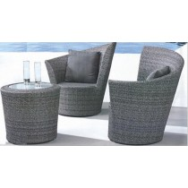Wicker Gray Modular Rattan Garden Lounge Seating Set