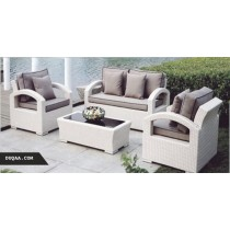 Wicker Light Cream Modular Garden Rattan Sofa Set