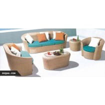 Wicker Modern Style Garden Rattan Sofa Set(Full Set)
