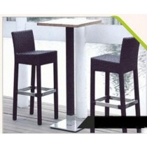 "Wicker Rattan 2 Bar Stool & 1 Bar Table Set ( Size: 30"" x 30"")"