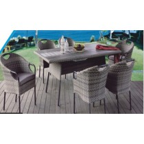 "Wicker Shaded Garden Rattan  Dinning Set(Size 48"" x 30"")"