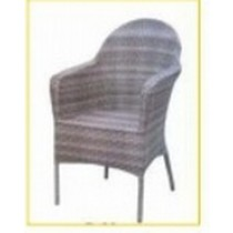 Wicker Shaded Light Purple Restaurant Rattan Chair