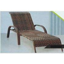 Wicker Shaded Outdoor Pool Side Lounger