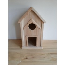 Window Fir Wooden Bird House