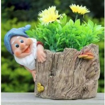 Wood Type Gnome Garden Planter