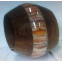 Wood with Seep Napkin Ring
